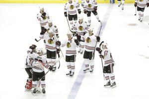 Hawks beat Stars in 11rd shootout.      (Photo by Glenn James/NHLI via Getty Images)