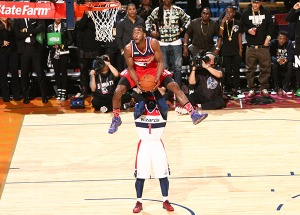 John Wall was named Dunker of the Night by a fan vote. (Nathaniel S. Butler/NBAE/Getty Images)